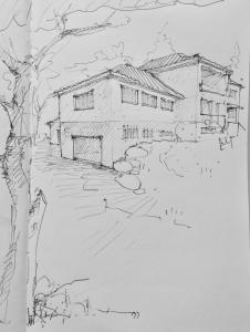 Desenho da Nova Escola da Torre do 2º Ciclo. Autoria: Arq. Marco Braizinha.